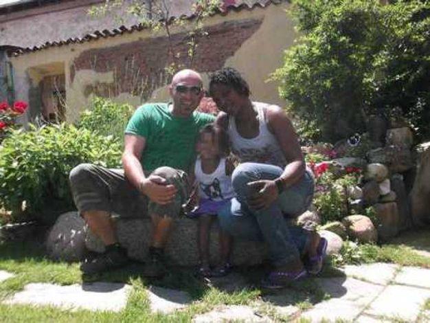 Christian Cecala con la moglie Dawna e la figlioletta Krystal