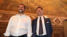 Il vicepremier Matteo Salvini a Palazzo Pubblico con il sindaco Luigi De Mossi