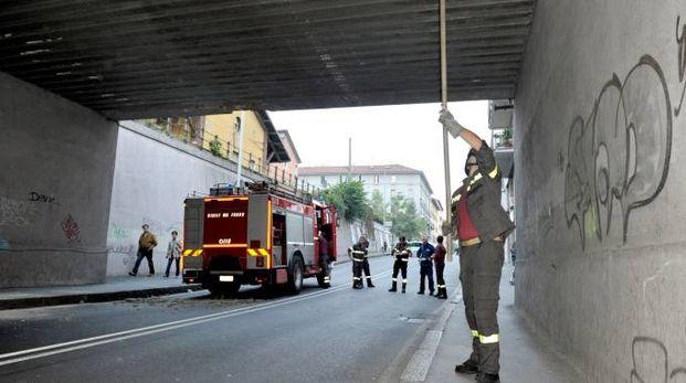 Vigili del fuoco al lavoro per le verifiche