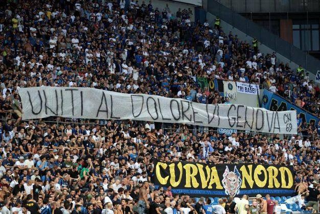 Il tifo di Sassuolo-Inter (Ansa)