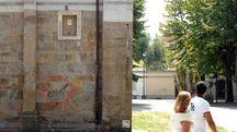 Scritte sul muro della chiesa San Paolo a Ripa d'Arno