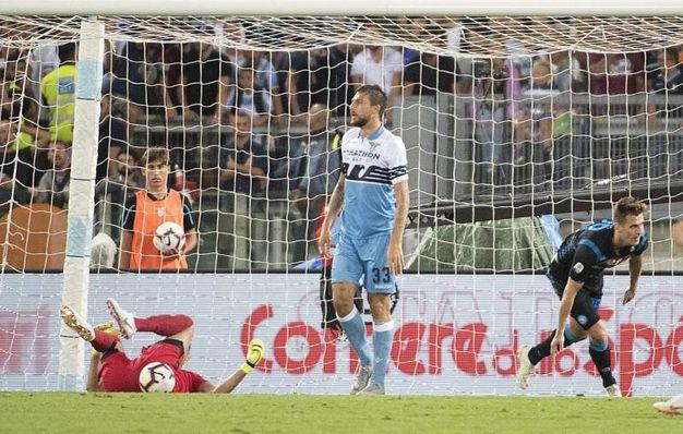 Lazio-Napoli 1-1, Milik (Ansa)