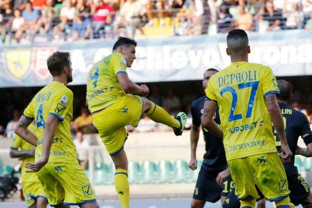 Chievo-Juventus 1-1, Stepinski (Lapresse)