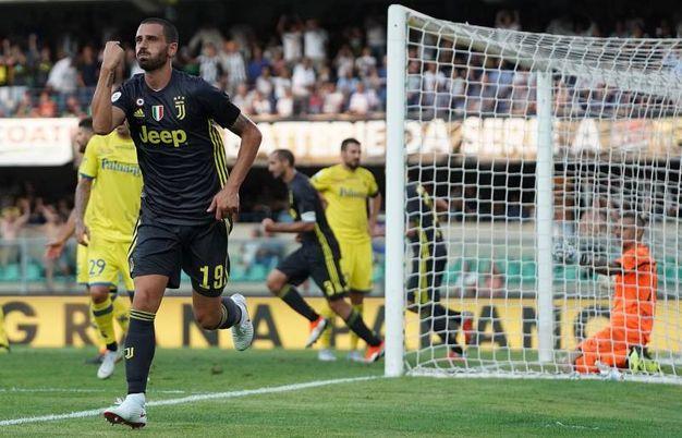 Chievo-Juventus 2-2, autogol di Bani (Lapresse)