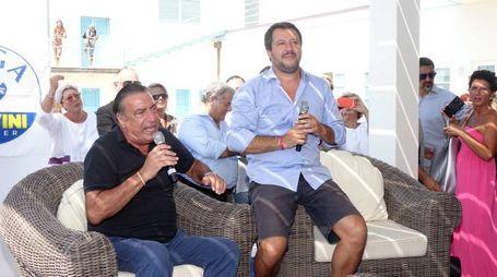 Matteo Salvini a Viareggio (foto umicini)