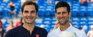 Federer e Djokovic in Ohio (Ansa)