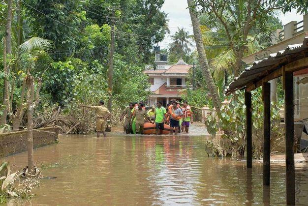 I soccorsi in Kerala (LaPresse)