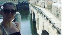 Selfie da turista della Renna davanti al Ponte di Tiberio