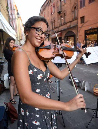 La dolcezza del violino (foto Businesspress)