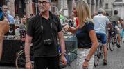 Le telecamere di rai 3 a Rimini (foto Pasquale Bove)