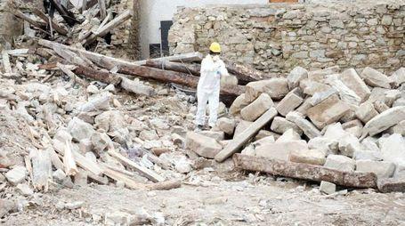 Le macerie del terremoto