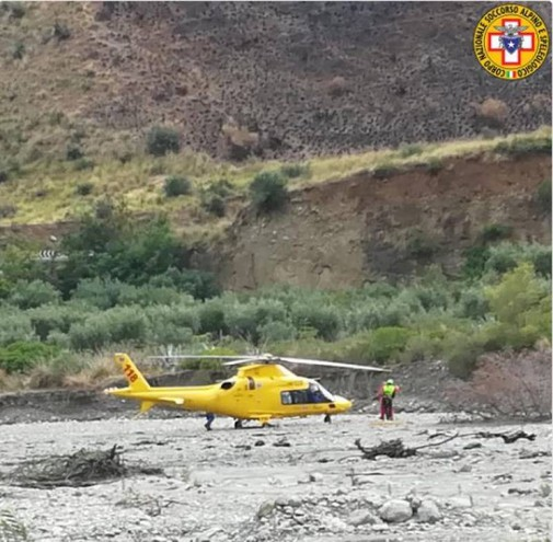 Gole del Raganello, una foto del soccorso Alpino su Twitter