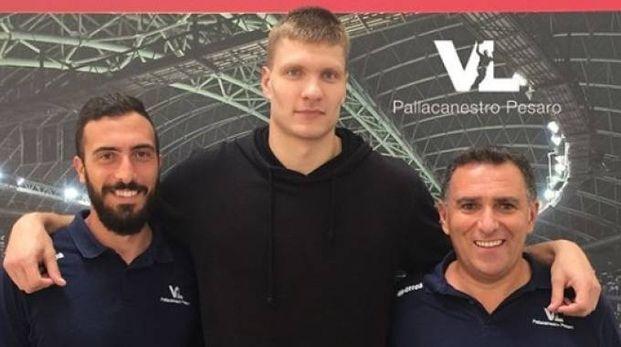 Mockevicius insieme al team manager Magi e il ds Cioppi
