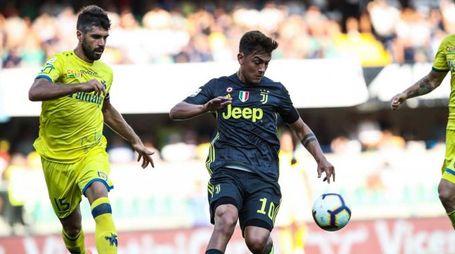 Dybala nella partita contro il Chievo