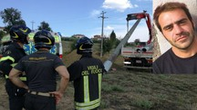 Marco Del Cimmuto e il luogo dell'incidente