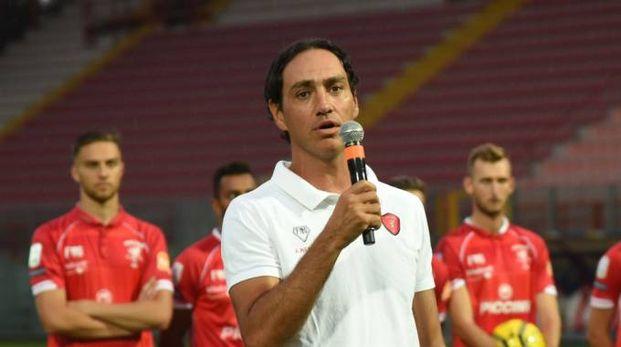 Il tecnico del Perugia, Nesta (foto Crocchioni)