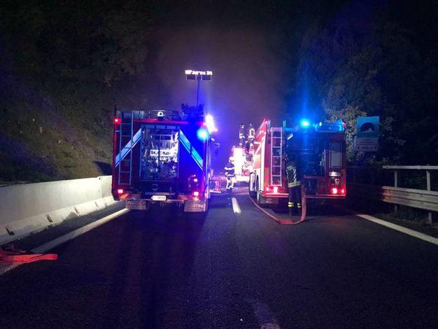 L'incidente in A14 all'altezza di Grottammare (foto Luciani)