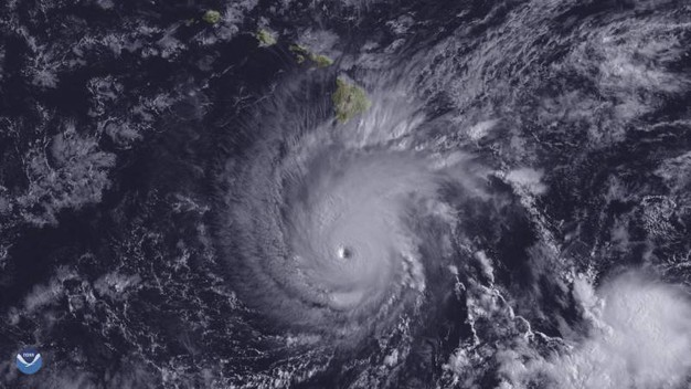 L'Uragano Lane in un'immagine della NOAA (Ansa)