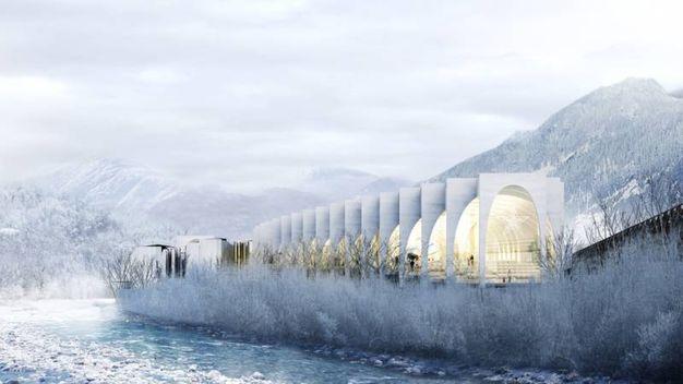 La futura nuova sede di San Pellegrino - Foto:  www.big.dk