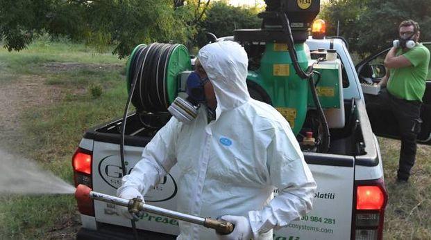 Disinfestazione anti zanzare in un parco