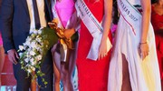 Da sinistra: Alessandro Gentilucci, sindaco di Pieve Torina, Miss Marche 2018, Carlotta Maggiorana, Miss Marche 2017, Ilenia Bravetti, e Miss Italia uscente, Alice Rachele Arlanch (Foto Conforti)