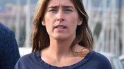 Maria Elena Boschi al porto di Catania (Ansa)