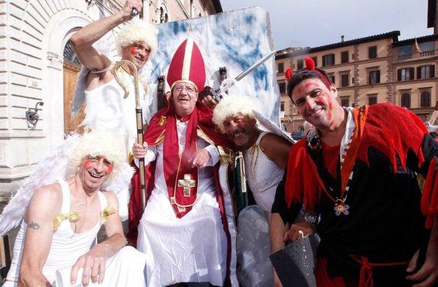Il corteo della vittoria della LUpa (Foto lazzeroni)