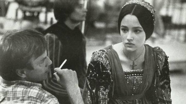Olivia Hussey con Franco Zeffirelli