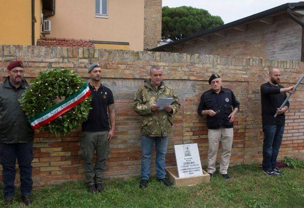 Ravenna, la commemorazione al gerarca fascista Muti (foto Corelli)
