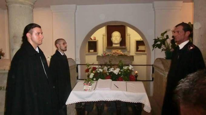 La tomba di Benito Mussolini a Predappio