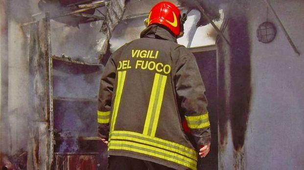 Un incendio alle torri di Zingonia (De Pascale)