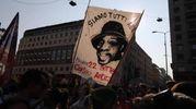 Protesta in piazza San Babila contro l'incontro Salvini-Orban (Ansa)