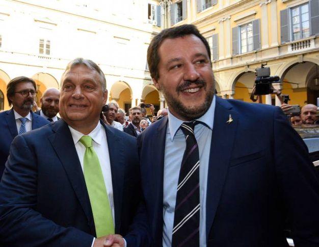 Viktor Orban e Matteo Salvini (LaPresse)