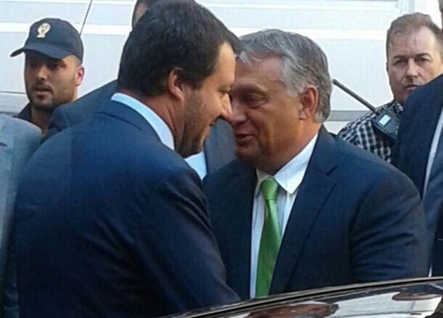 Matteo Salvini e Viktor Orban (Omnimil)