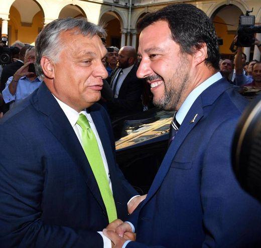 Viktor Orban e Matteo Salvini (Ansa)