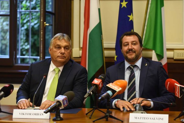 Viktor Orban e Matteo Salvini (Imagoeconomica)