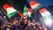 Corteo di Casapound contro l'accoglienza dei migranti (Imagoeconomica)