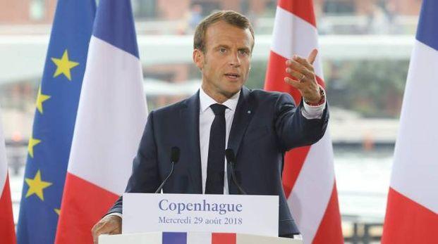 Il presidente francese Emmanuel Macron (Lapresse)