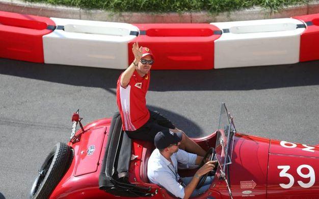 Sebastian Vettel al F.1 Milan Festival 2018, evento che fa da traino all'attesissima tappa del Gp di Monza
