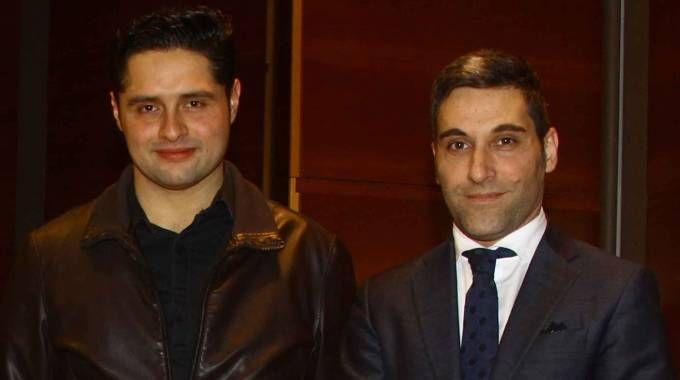 A destra il sindaco Ruggeri con Amira