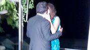 Il bacio tra Salvini e la Isoardi al Lido (Ansa)