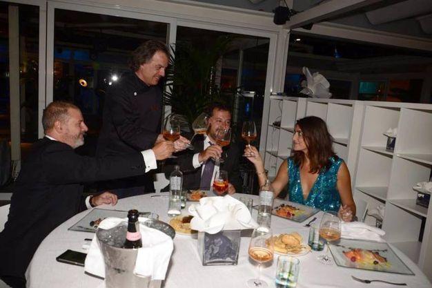 La cena sulla terrazza della Biennale (Ansa)