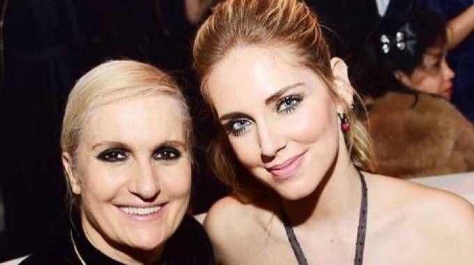 Chiara Ferragni e Maria Grazia Chiuri (Foto Instagram)