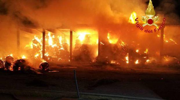 Incendio in azienda agricola a Lentate sul Seveso
