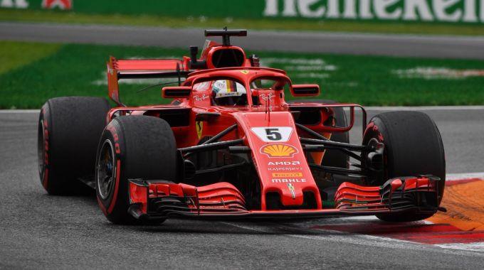 Sebastian Vettel, autore del miglior tempo nelle FP2