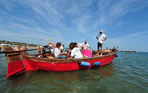 La riconquistata libertà della giovanissima tartaruga della specie Caretta Caretta si deve all'impegno della Fondazione Cetacei di Riccione, a Marina Cesari, alla Lega Navale, a Mp Netework e a Clean Sea Life che promuovono progetti per la salvaguardia del mare e i suoi abitanti