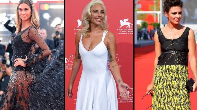 Melissa Satta, Lady Gaga e Jasmine Trinca (Ansa/Lapresse)