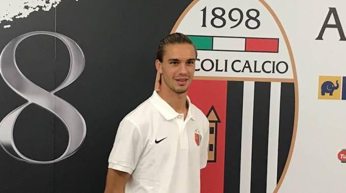 Il difensore dell'Ascoli Danilo Quaranta