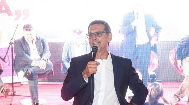 Il sindaco Merola ieri sera alla Festa del'Unità