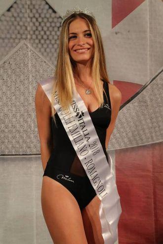 Assegnato anche il titolo speciale di Miss Colli Emiliano -Romagnoli alla bionda 19enne cesenate Greta Nicoletti (Foto Marco Isola)